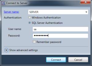 Connexion via Optillect SQL Decryptor