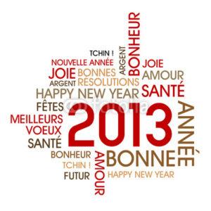 Adieu 2012, bonjour 2013!