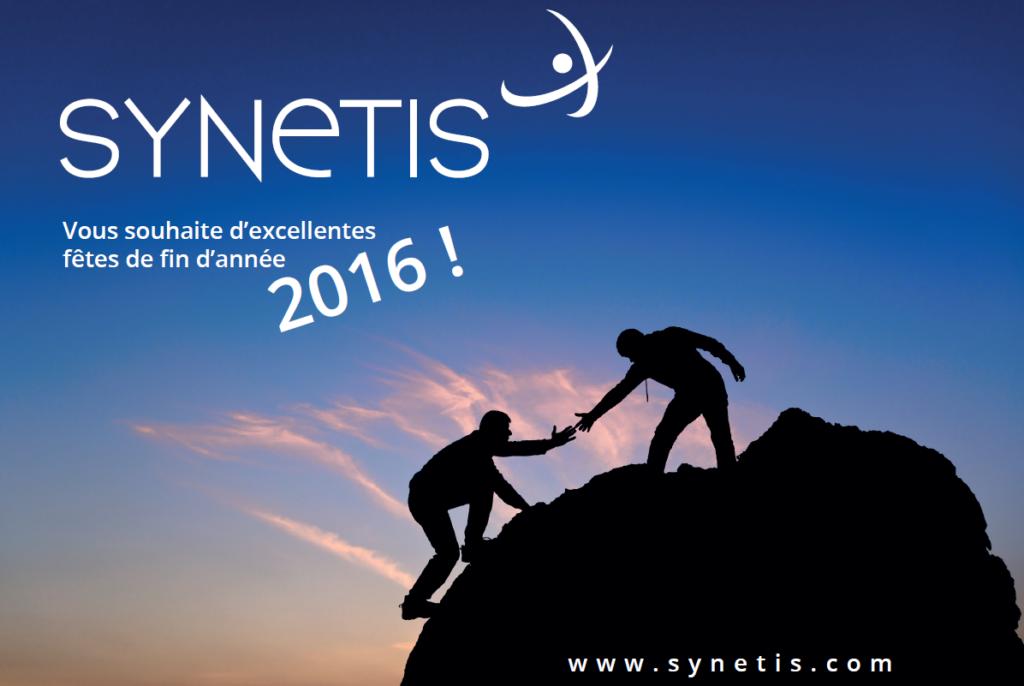 Meilleurs vœux et excellente année 2016 de la part de SYNETIS