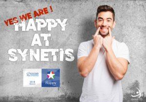 LAURÉAT 2018 : SYNETIS EST HAPPYINDEX®ATWORK !