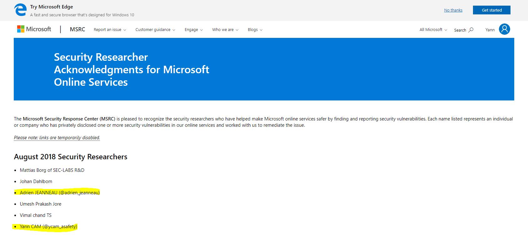 Microsoft Hall of Fame