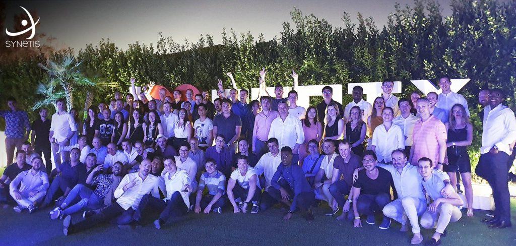 photo de l'équipe synetis en séminaire à Naples