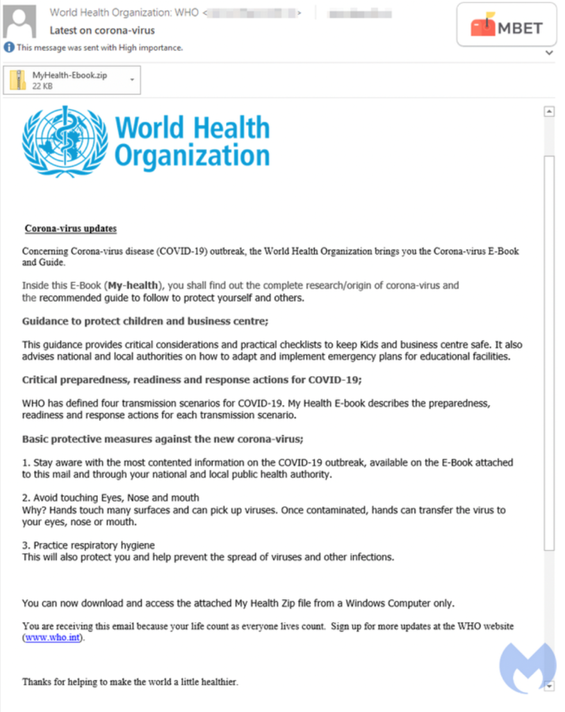Faux email de l'ONU