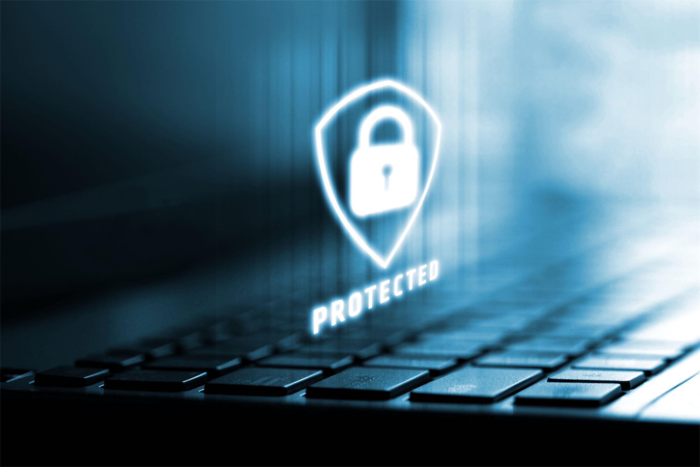 photo ordinateur protégé