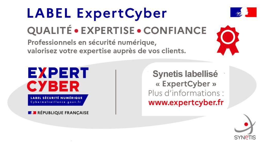Synetis obtient le label d'ExpertCyber