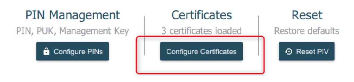 configuration certificat